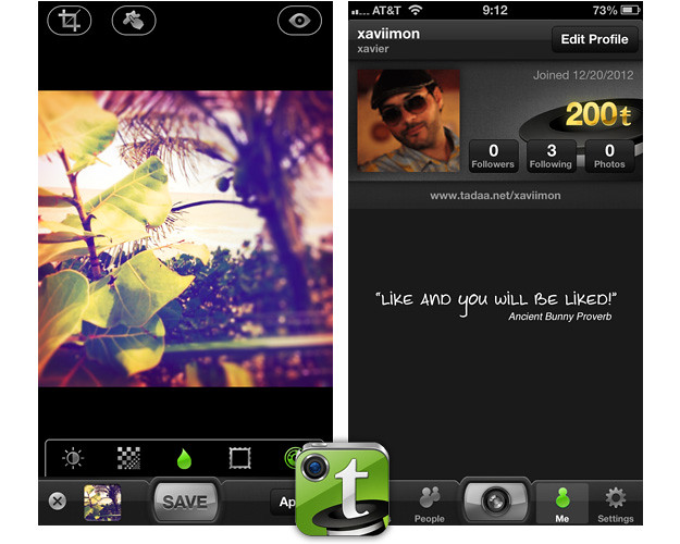Tadaa — Alternativas a Instagram para iOS