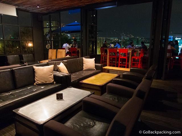 Lounge area at Sinko Bar