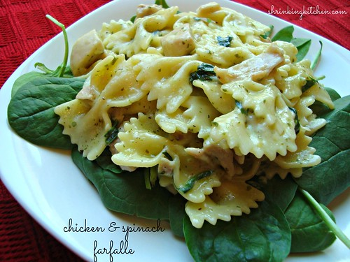 spinach chicken farfalle