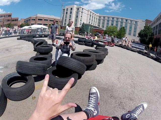 Evanston Mini Makerfaire Powerwheels Racing