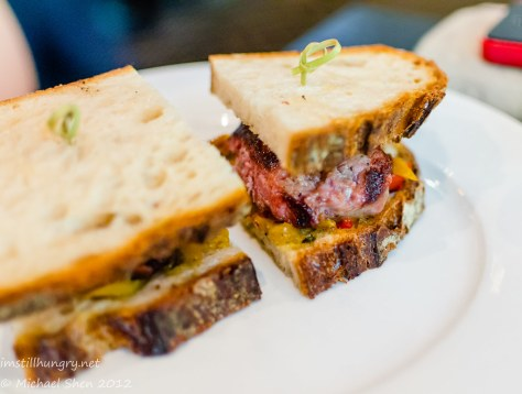 Rockpool - Pork Sausage Sandwich with Grilled Peppers