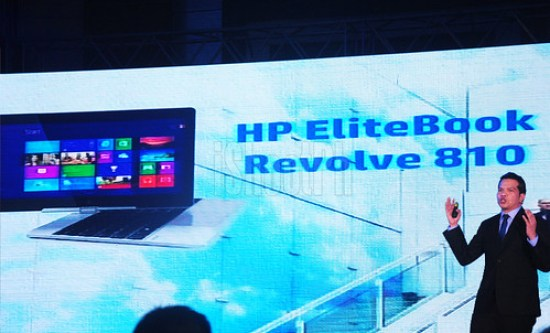 HP EliteBook Revolve 810 shown by Paul Alcantara.