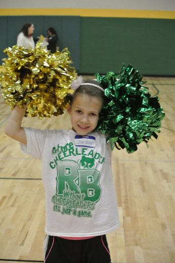 Jordan has a chance to perform in a cheerleading performance tonight