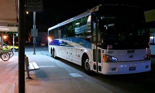 Monterey Salinas Transit bus at downtown Santa Cruz Metro transit center