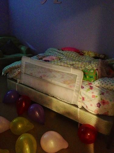 balloons on the floor
