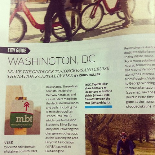 Hey! We're in Bicycling magazine's June 2013 issue.