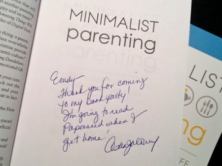 Minimalist Parenting Signed Book