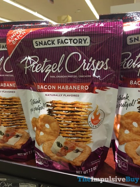 Limited Batch Snack Factory Bacon Habanero Pretzel Crisps