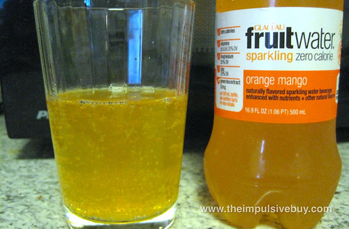 Glaceau Fruitwater Orange Mango Bubbles