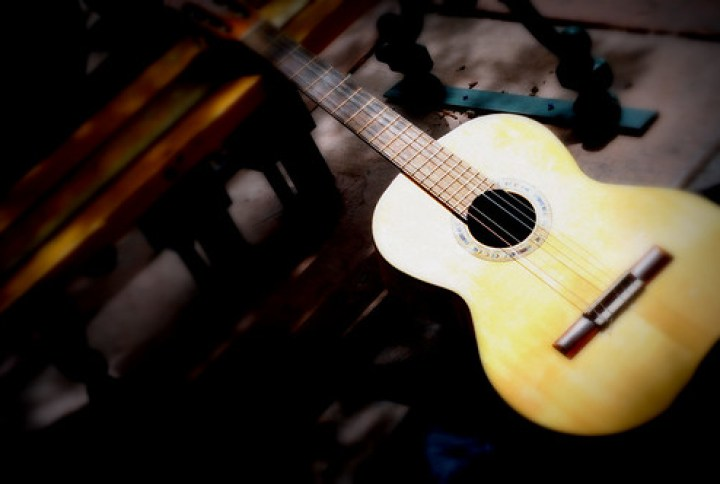 Guitar Santa Fe New Mexico Plaza Instrument DSC_1838 by Dallas Photographer David Kozlowski