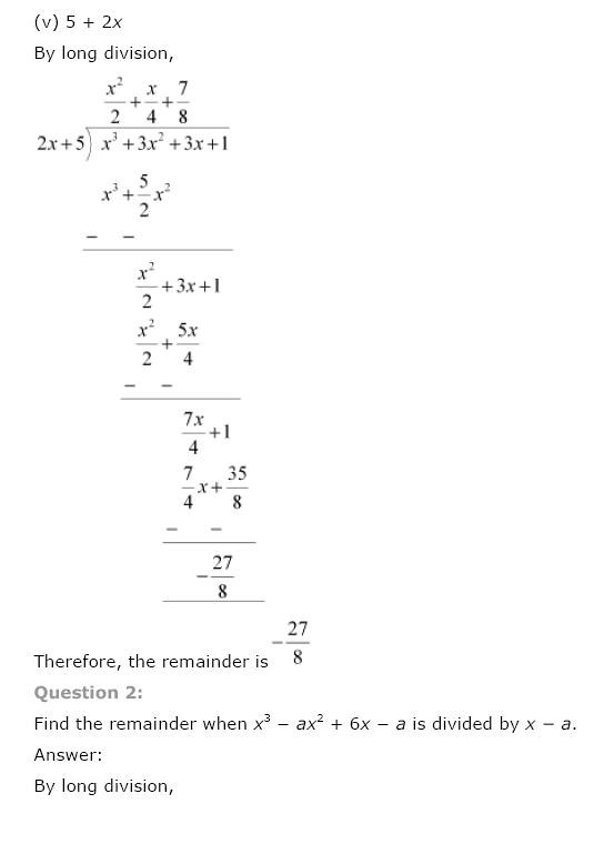 NCERT Solutions for Class 9th Maths: Chapter 2 Polynomials