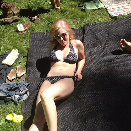 Sun bathing in Seattle!