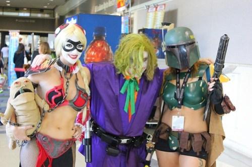 Joker Jedi, Harley Quinn Slave Leia, and Female Boba Fett - Star Wars Celebration VI