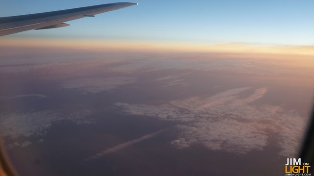 from the plane, on the way to London