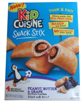 Kid Cuisine Snack Stix Peanut Butter & Grape