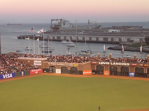 Boats in McCovey Cove Giants