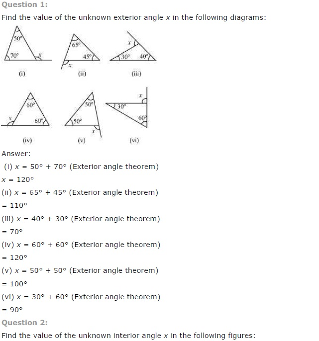NCERT Solutions for Class 7th Maths Chapter 6   The Triangle and its Properties Image by AglaSem