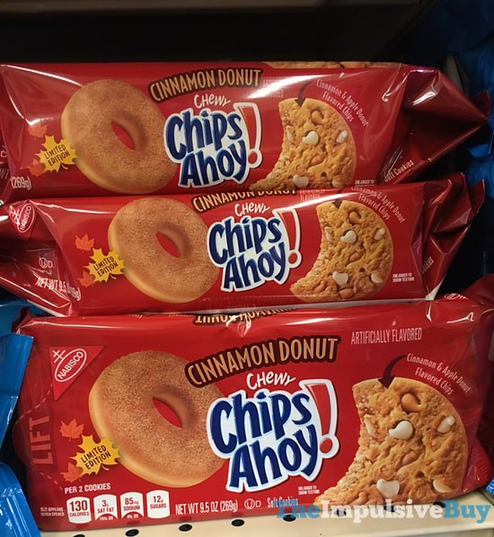 Limited Edition Cinnamon Donut Chewy Chips Ahoy