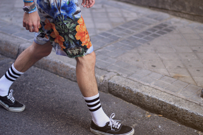 American Apparel tank top and socks, Stella McCartney shorts, Givenchy bag, Vans shoes
