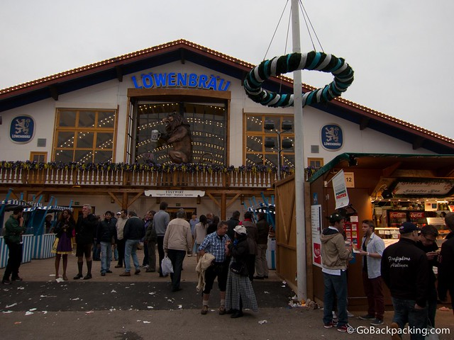 The Löwenbräu tent