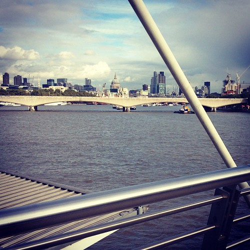 Be mine, London. View of the City from Embankment.