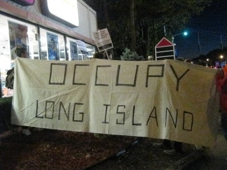Occupy Long Island: Hofstra Debate protest