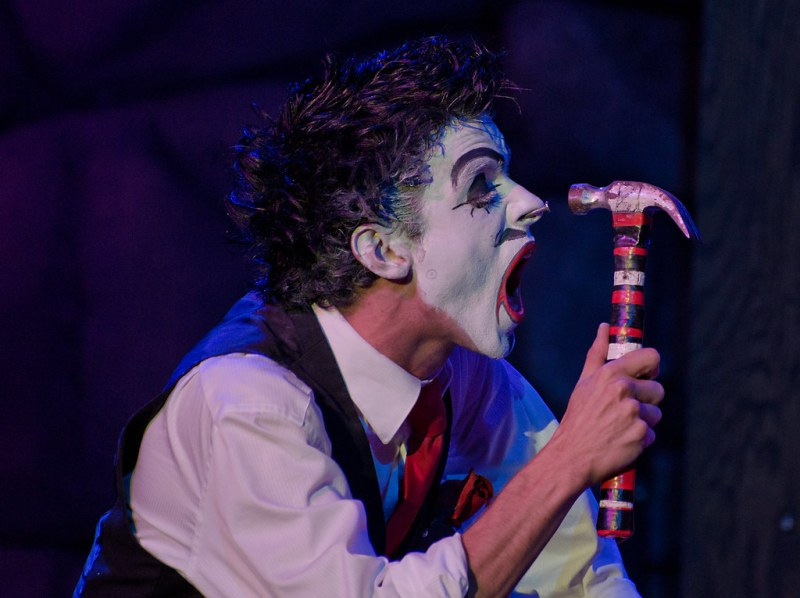 "Halloween Horror Nights 22's ""20 Penny Circus - Fully Exposed.""  Photo by Mark Walter."