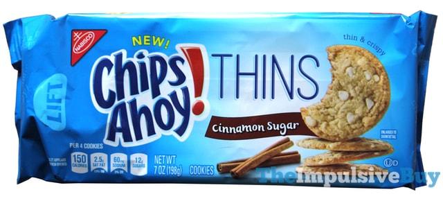 Chips Ahoy Thins Cinnamon Sugar Cookies