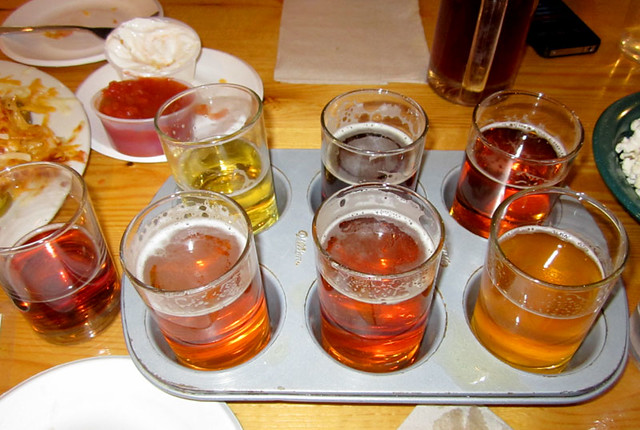 Long Trail Brewery sampler