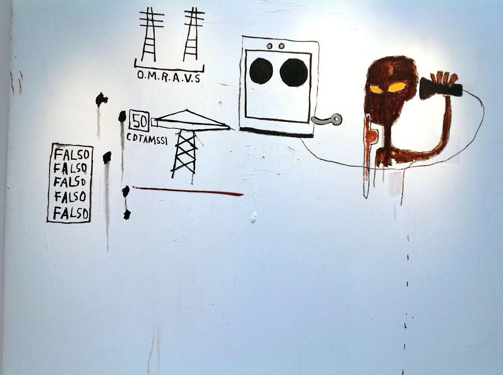 """""""O.M.R.A.V.S."""" by Jean-Michel Basquiat - FIAC ART FAIR 2012 at Grand Palais (Part I), Paris Photo Aurora Aspen"""