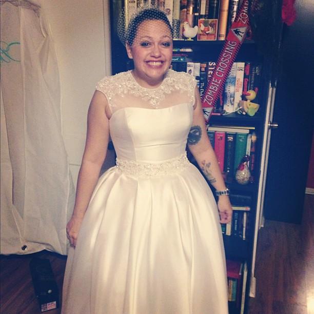 Aww. @2princessmama is the prettiest bride.