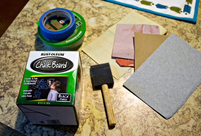 Kitchen update: chalkboard supplies