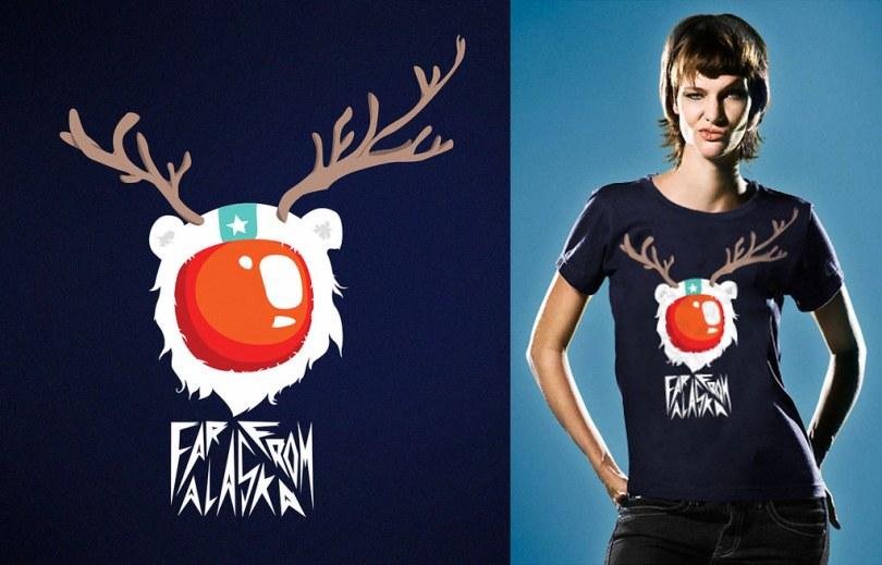 Ilustração para camiseta da banda Far From Alaska(RN)