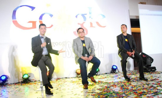 Photo shows Undersecretary Manuel L. Quezon III (left); Narciso Reyes (middle), Country Manager, Google Philippines; and Julian Persaud (right) Managing Director, Google Southeast Asia.