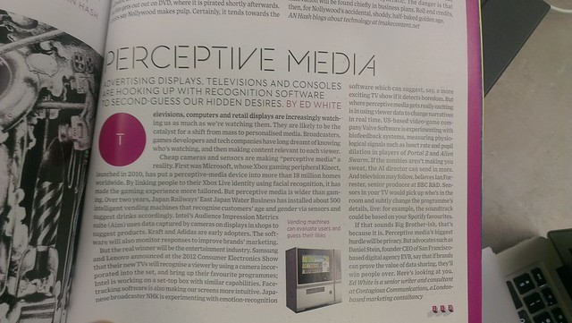 Perceptive media in wired magazine
