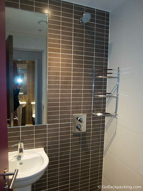 The ensuite shower