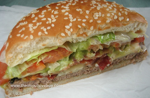Burger King Avocado and Swiss Whopper Side