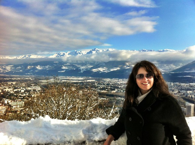 Me enjoying the views over Grenoble from La Bastille.