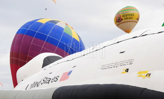 Axe Philippines' gigantic five-story hot air balloon shaped like a NASA space-shuttle