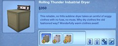 Rolling Thunder Idustrial Dryer