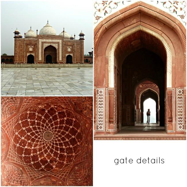 taj mahal gate details