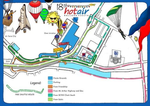 Clark Hot Air Balloon Fiesta Map