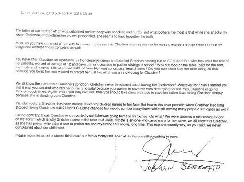 Joaquin Barretto's letter