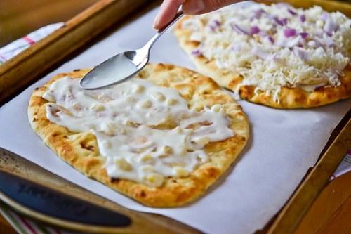 Roasted Garlic, Chicken & Herb Flatbread Pizza-6