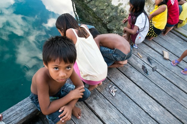Bajau kids. Togean Islands