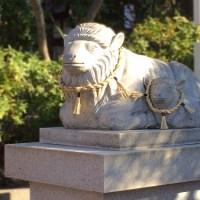 狛犬ならぬ狛羊!?名古屋市北区にある羊神社へ初詣に行ってきました。