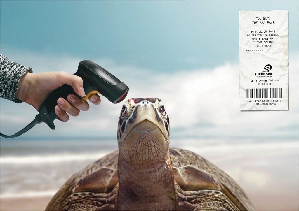 Surfrider Foundation - Barcode Scanner Turtle