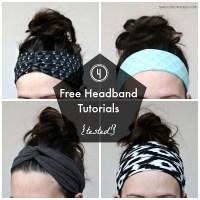4 Free Headband Tutorials - Tested