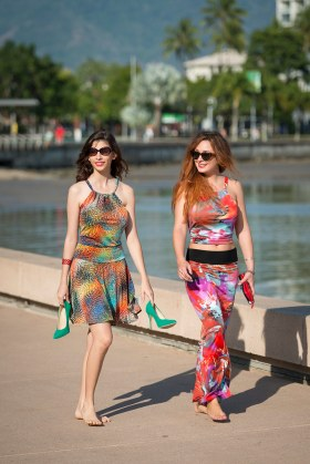 Sara and Tullulah Sunny Top, Skate Skirt and Long Skirt