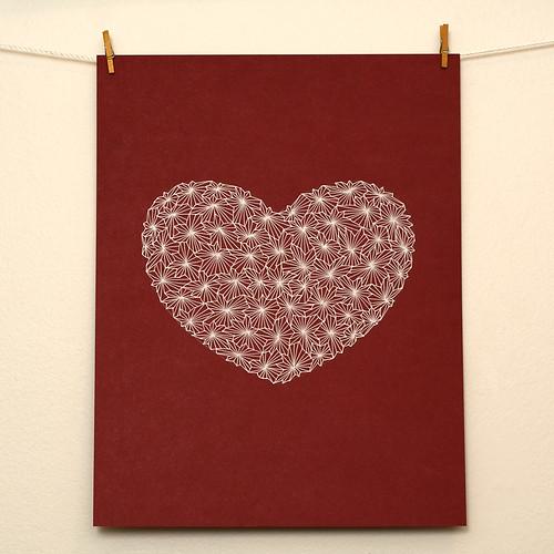Gel pen Valentine heart